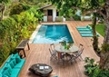 泳池景观,别墅庭院,沙发座椅,桌椅组合