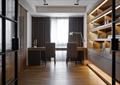 书房,桌椅,书柜,柜子