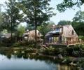 独栋别墅,别墅建筑,别墅,滨水景观