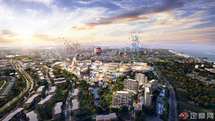 滨海城市,滨海景观,城市,城市景观