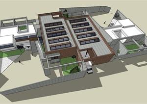 艺术家工作室建筑设计SU(草图大师)模型