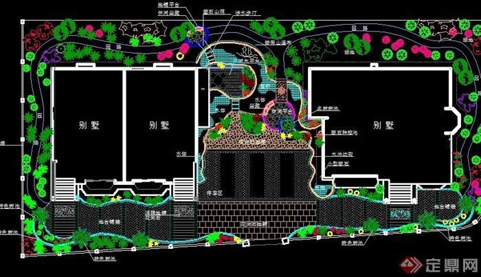 40套别墅庭院私家花园景观设计cad平面图(1)