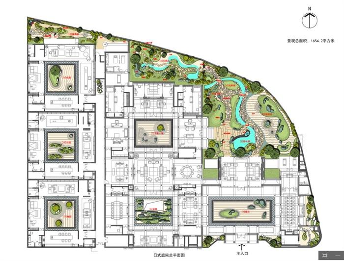 某私人日式庭院设计psd平面图