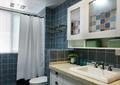 卫生间设计,淋浴房,洗手池,镜子,马桶
