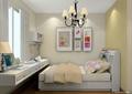 卧室,床,吊灯,挂画,窗户