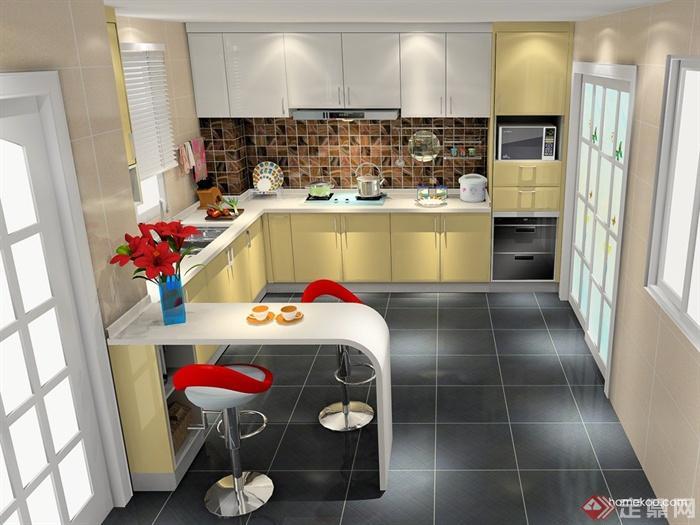 厨房,厨房餐柜,厨房设施,橱柜,厨房门