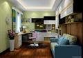 书房,书柜,沙发,桌椅