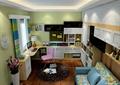 书房,沙发,书柜,桌椅