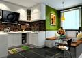 厨房餐厅,橱柜,厨房餐柜,餐桌椅,厨房设施
