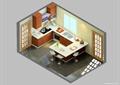 厨房,橱柜,厨房餐柜,桌凳,厨房门