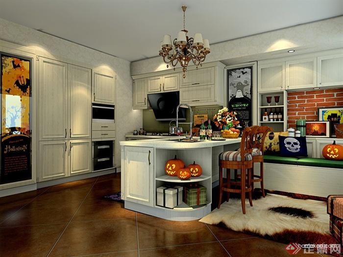 开放式厨房,厨房,橱柜,厨房餐柜,厨房设施,餐厅,桌凳