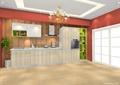 厨房,橱柜,厨房餐柜,吊灯,厨房门