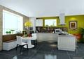 厨房餐厅,厨房餐柜,厨房设施,橱柜,餐桌椅