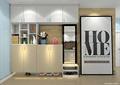 室内设计,鞋柜,镜子,装饰画