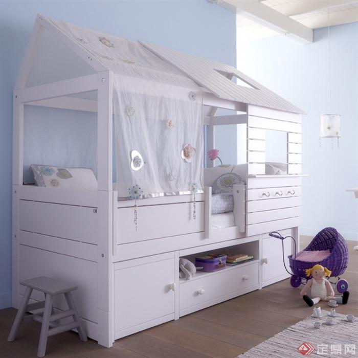 儿童床,柜子