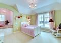 儿童房,儿童床,椅子,吊灯,窗户