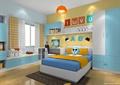 儿童房设计,床,衣柜,坐凳,书桌