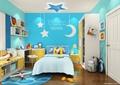 儿童房设计,床,衣柜,书桌,坐凳
