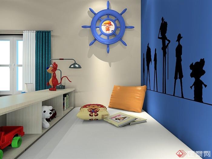 儿童房,柜子,墙画