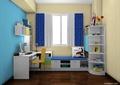 儿童房,桌椅,榻榻米,柜子