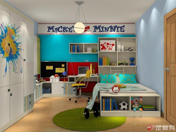 儿童房,衣柜,儿童床,柜子