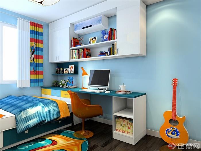 儿童房,儿童床,桌椅,柜子