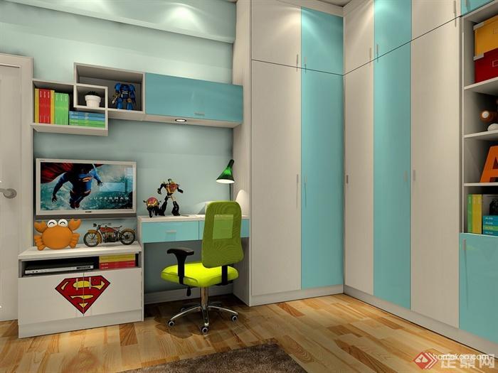儿童房,桌椅,衣柜,柜子