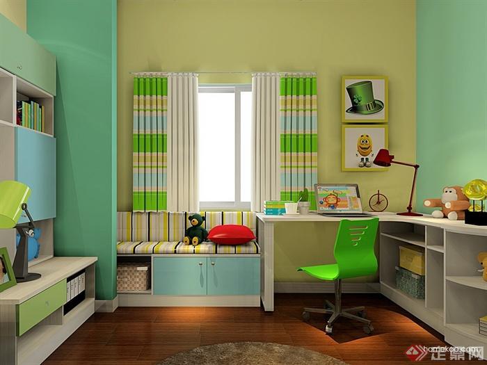儿童房,桌椅,柜子,榻榻米