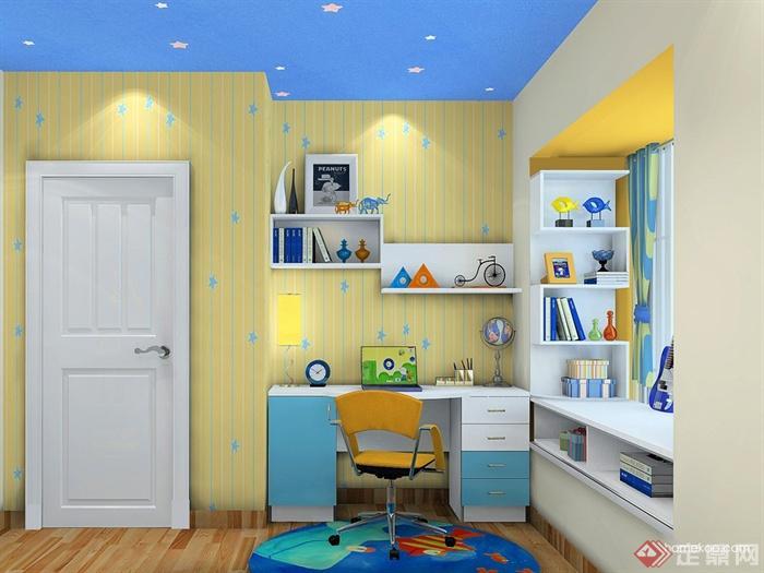 儿童房,桌椅,柜子