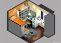 儿童房,儿童床,桌椅,柜子,衣柜