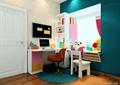 儿童房设计,书桌,书架