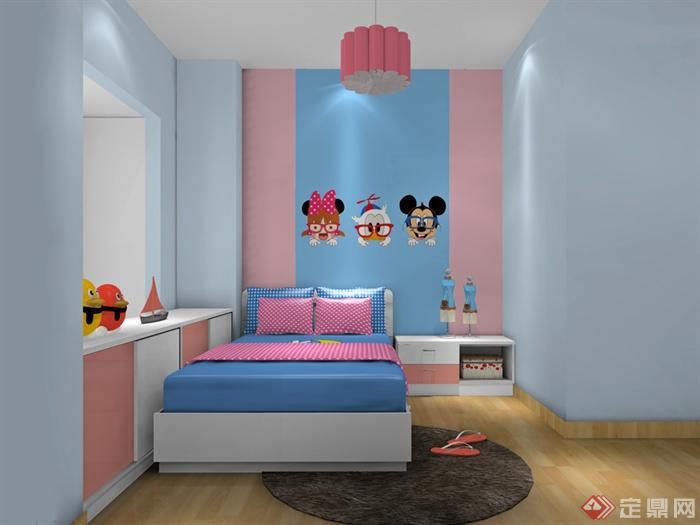儿童房,儿童床,柜子