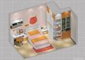 儿童房,榻榻米式床,衣柜,桌椅,柜子