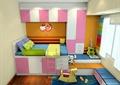 儿童房,榻榻米式床,衣柜,柜子