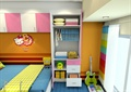 儿童房,贴图材质,衣柜