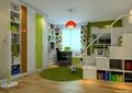 儿童房,柜子,高低床,衣柜,桌椅,吊灯