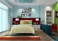 卧室,卧室床,桌椅,衣柜,床头柜,装饰画