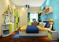 儿童房,儿童床,柜子,床头柜,吊灯
