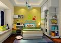 儿童房,儿童床,桌椅,榻榻米,柜子,衣柜
