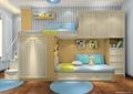 儿童房,儿童床,榻榻米式床,柜子