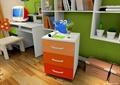儿童房设计,书架,书桌,书柜
