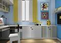 儿童房,柜子,桌椅,装饰画