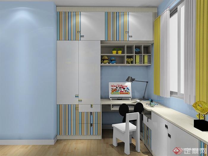 儿童房,个人工作室,桌椅,书柜,柜子