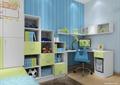 儿童房设计,书柜,书桌,书架