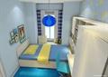 儿童房,书柜,儿童床,柜子,吊灯