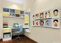 儿童房,桌椅,书柜,装饰画