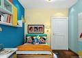 儿童房,儿童床,桌子,书柜,卧室门