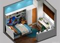 儿童房,儿童床,柜子,衣柜,桌椅