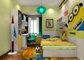 儿童房,儿童床,书柜,柜子,桌椅