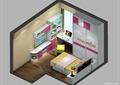 儿童房,儿童床,衣柜,桌椅,柜子